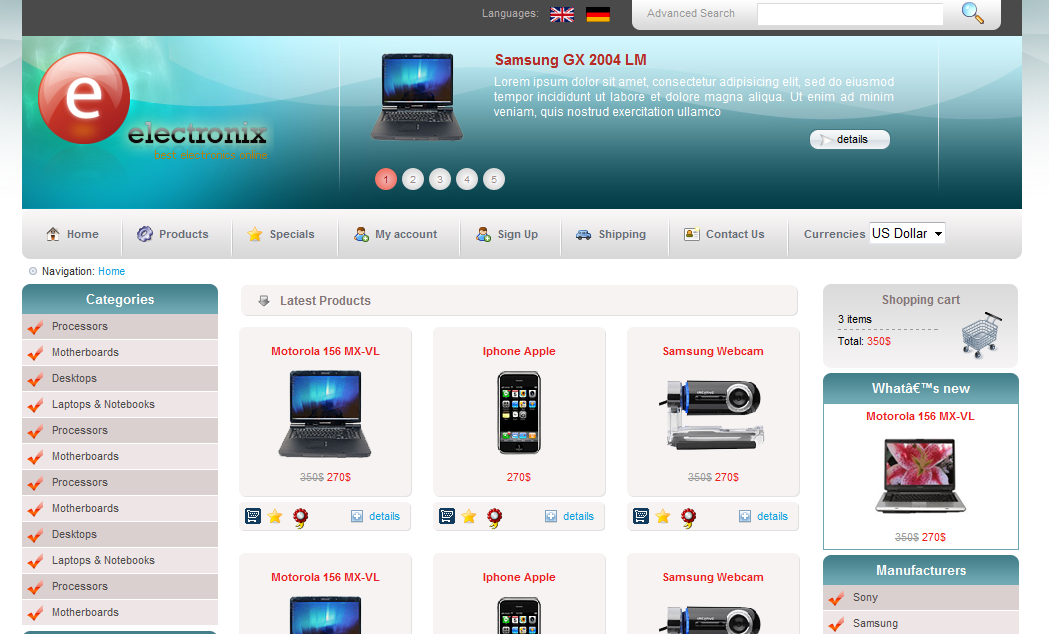 i will give you an Ecommerce Blogger Template with shoping cart for ...
