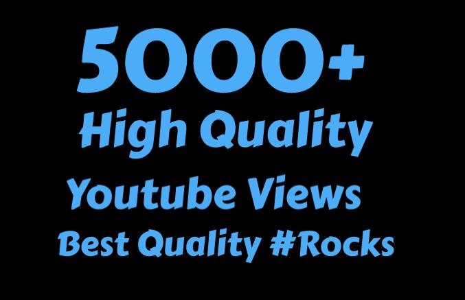 I will Add 5000+ High Quality Youtube vie ws