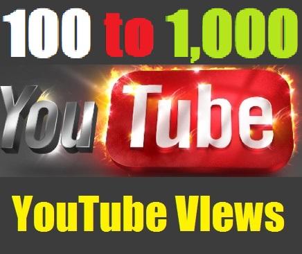 No-Drop Safe 100 to 1,000 YouTube Views