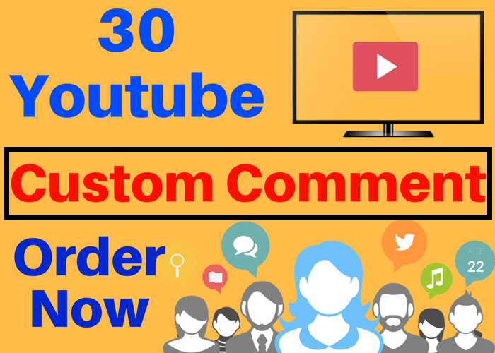 Deliver 30 Youtube video CUSTOM  Comments