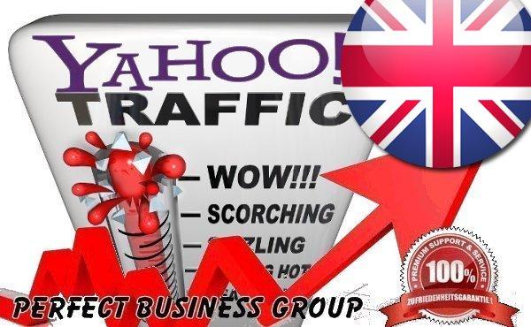 Organic traffic from Yahoo UK UK & Ireland with your Keyword