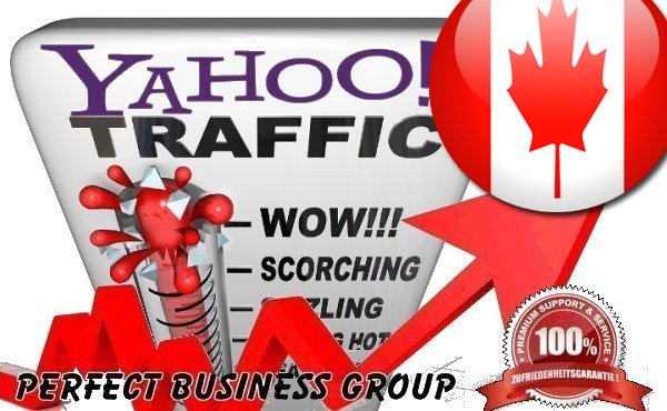 Organic Visitors from Yahoo CA Canada with your Keyword
