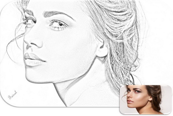 Convert photo to line drawing in photoshop cs5