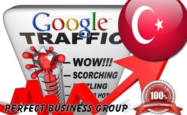 Organic traffic from Google. com. tr Turkey with your Keyword