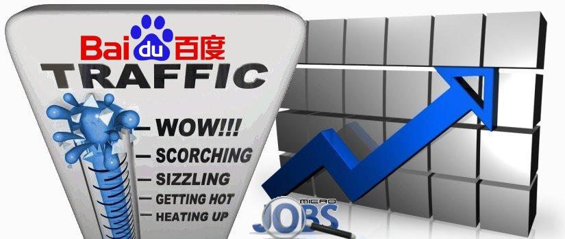 Organic traffic from Baidu with your Keyword