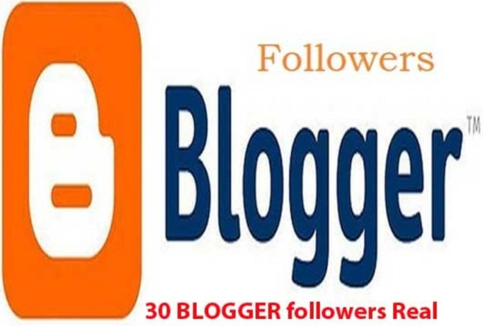 I will give real 30 BLOGGER followers to your blog for