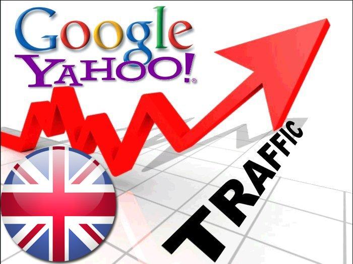 Organic traffic from Google. co. uk + Yahoo UK & Ireland