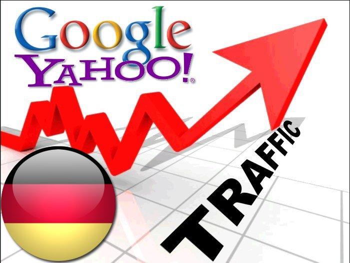 Organic traffic from Google. de + Yahoo Deutschland