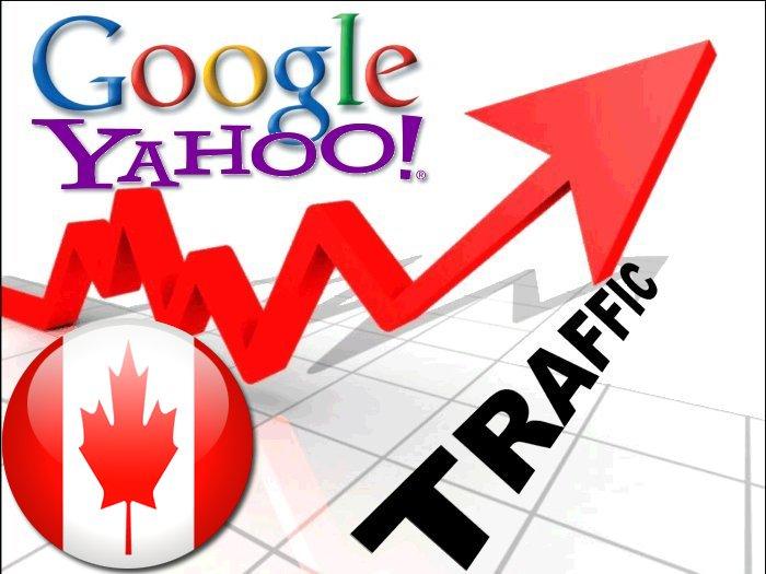 Organic traffic from Google. ca + Yahoo Canada