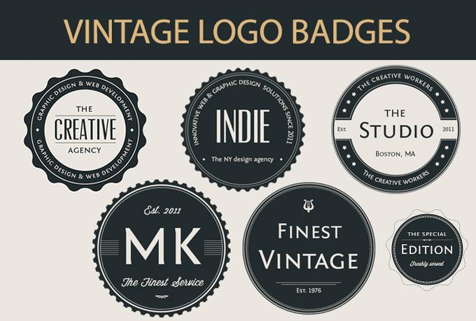 Design Your LOGO like Vintage Badge for $5 - SEOClerks