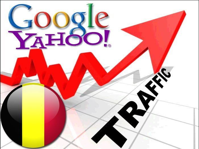 Organic traffic from Google. be + Yahoo Belgie