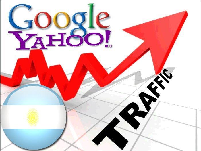 Organic traffic from Google. com. ar + Yahoo Argentina