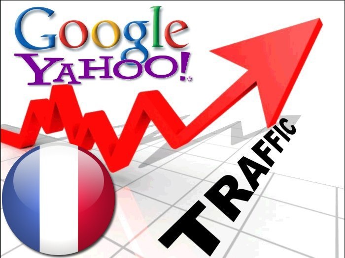 Organic traffic from Google. fr + Yahoo France