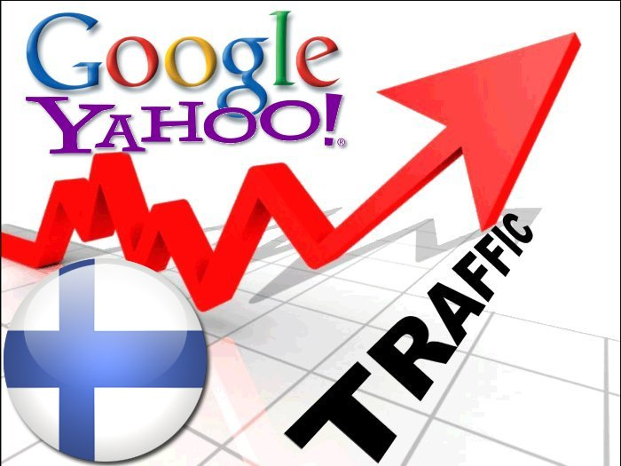 Organic traffic from Google. fi + Yahoo Suomi
