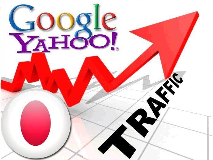 Organic traffic from Google. co. jp + Yahoo