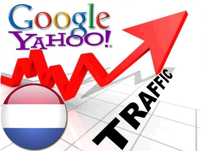 Organic traffic from Google. nl + Yahoo Nederland
