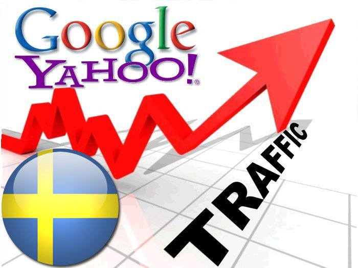 Organic traffic from Google. se + Yahoo Sverige