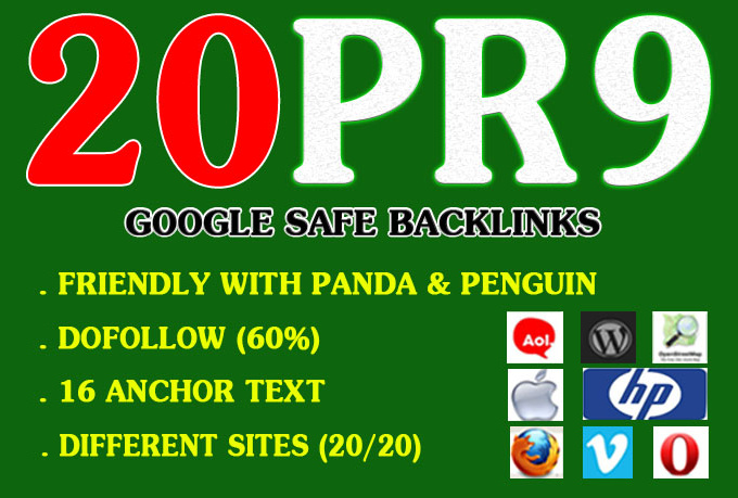 manually create 20+ PR9 backlinks from 20+ PR9 AUTHORITY Sites + Premium Indexing Service LINDEXED + Full Report