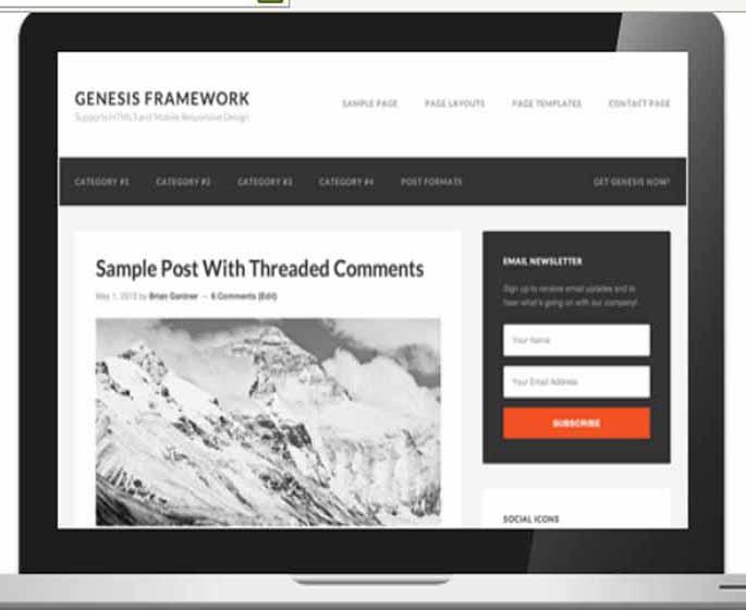 send you a copy of genesis framework
