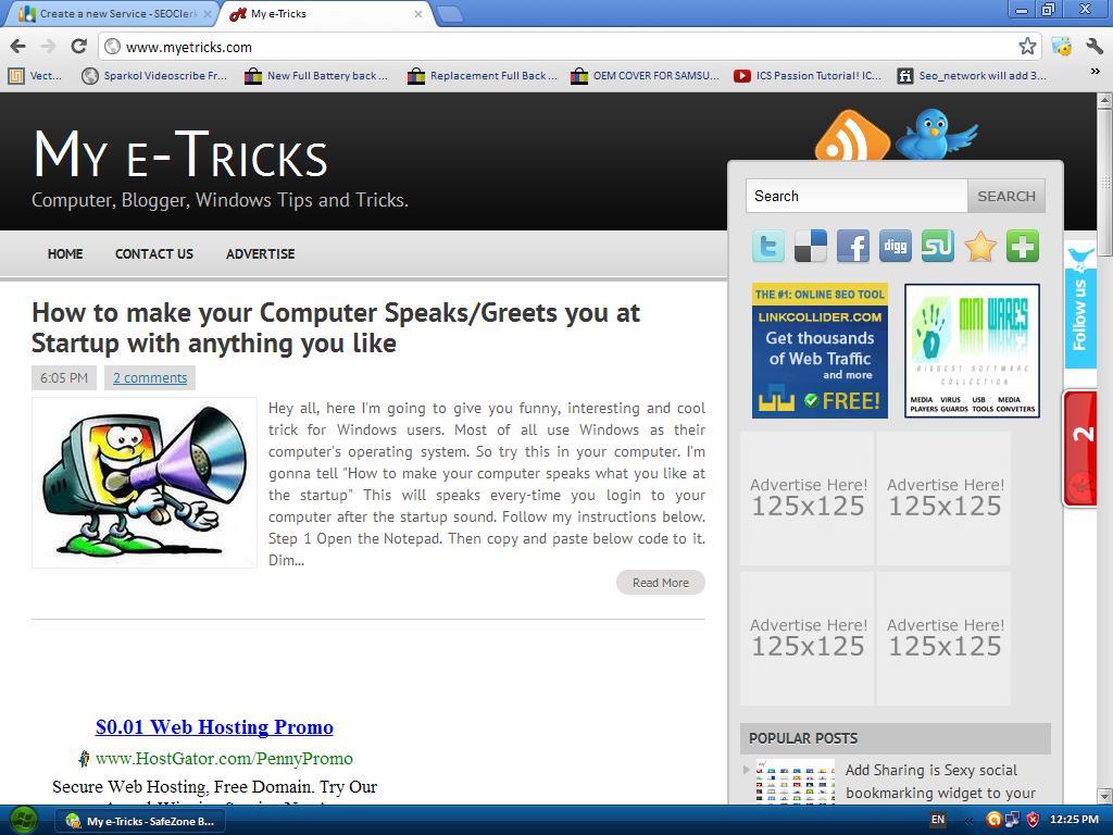 My e-Tricks blog for sale