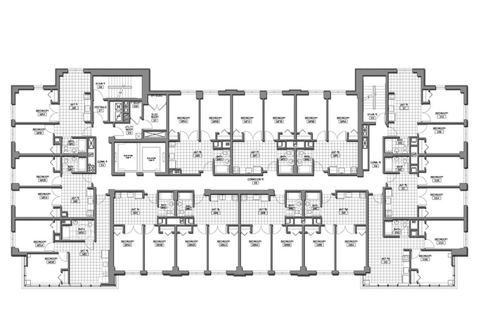 Autocad 2d building drawing for 2d building drawing