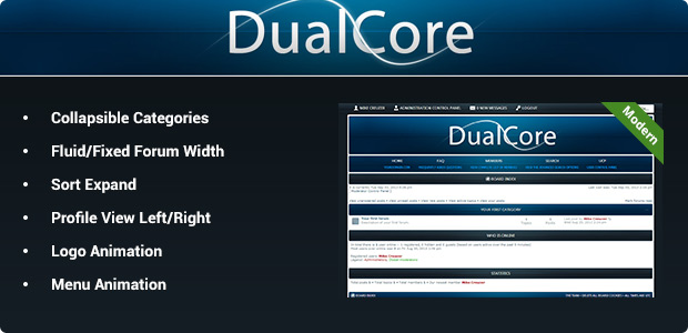DualCore - Modern phpBB3 Style