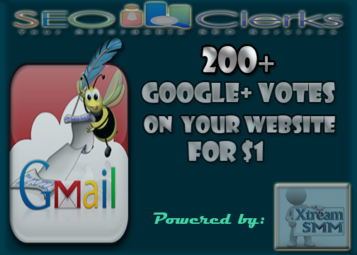 socila signal, give you 200+ permanent and manual google +1 votes to your website