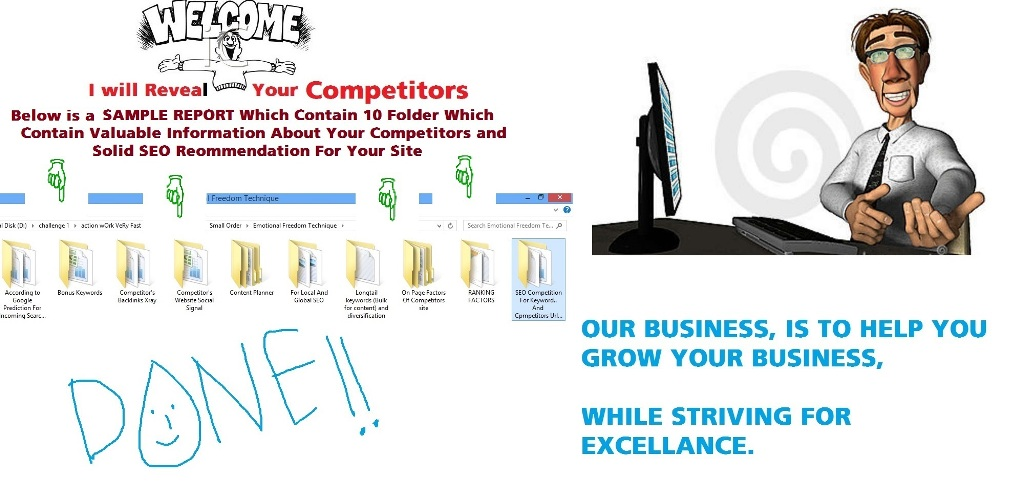 I will reveal your top 10 competitor weakness and help you to get number ONE in Google