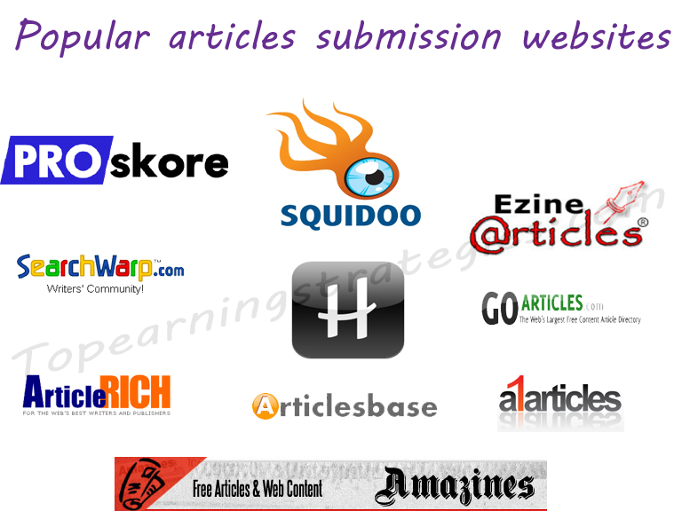 submit and approve your articles in 30 article sites