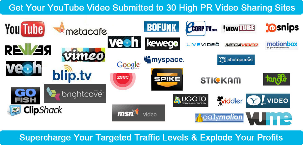 Upload your Video in 20 Videos sharing sites