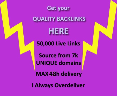 make 50000+ Quality BACKLINKS Instantly from 7000+ Domains to your site