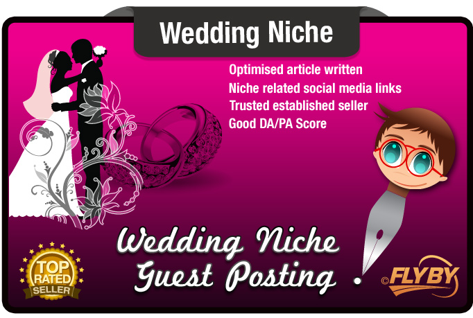 Write and Submit a Guest Post on a WEDDING Niche Website Moz PA50 DA40 for  $5