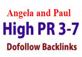 Make 700 Angela/ Paul backlinks with high Page Rank 4-7, that ...