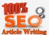 I will create 3 unique,  copyscaped,  SEO articles or SEO blog posts of 300 words