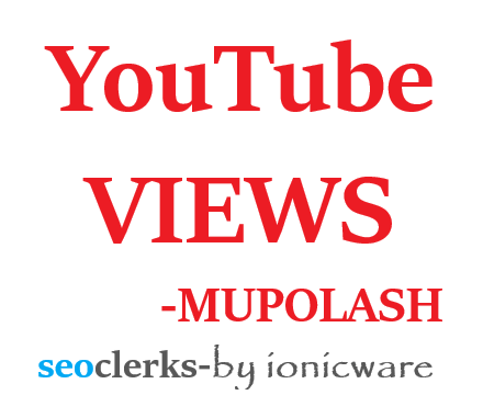 Get video promotion by real peple manual watch in a organic way.