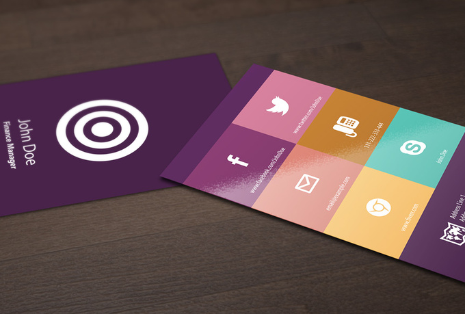 I will design Colorful Flat Business Card. for $15 - SEOClerks