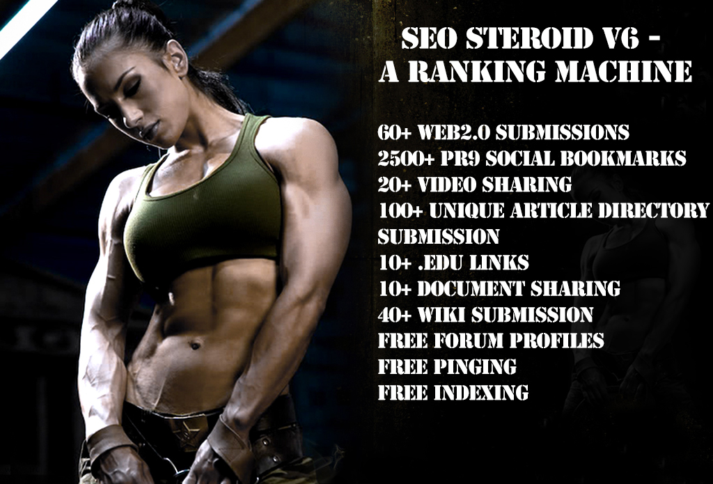 RANK 1 ON GOOGLE,  YAHOO & BING,  KILL YOUR COMPETITORS TODAY - GUARANTEED RANKING WITH SEO STEROID V6 - A RANKING MACHINE STILL HUGE DIVERSITY + BALANCED YOUR ANCHOR CLOUD JUST FREE OF COST