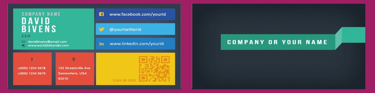 I will design a modern business card,  Metro UI style for 5