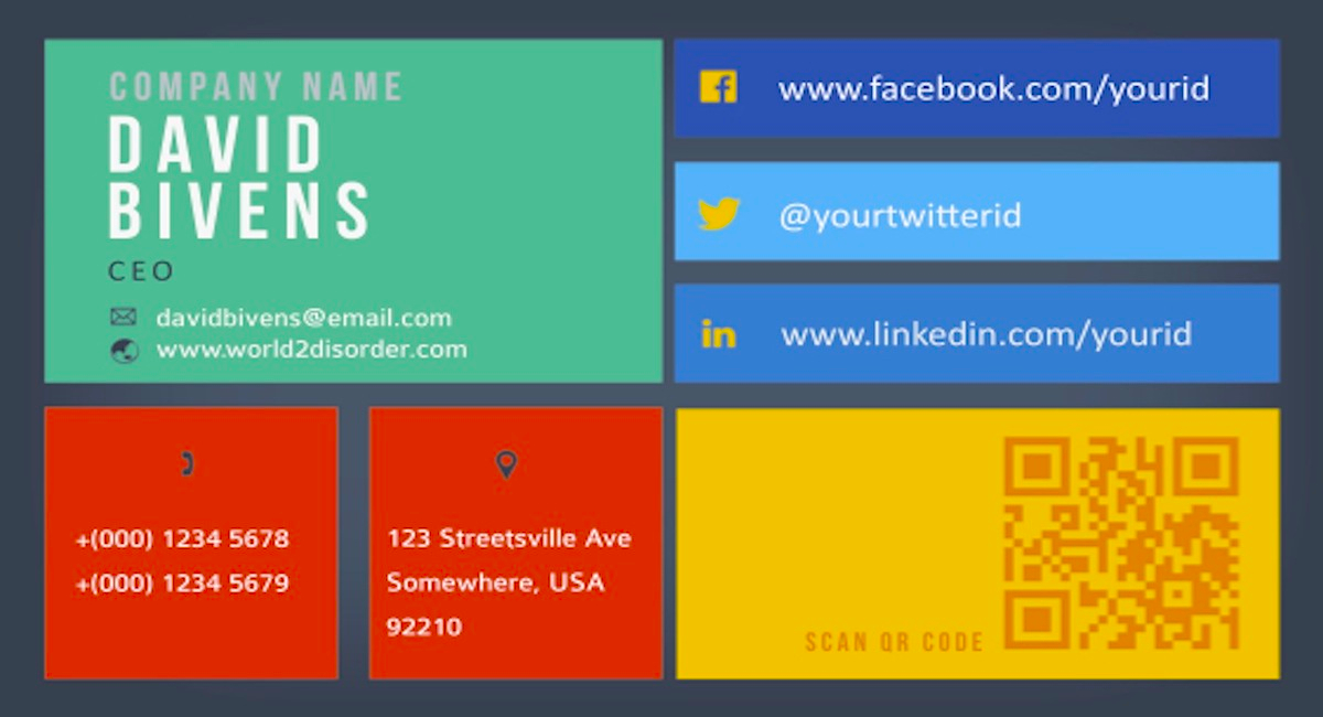 I will design a modern business card, Metro UI style for 5 for $5 ...