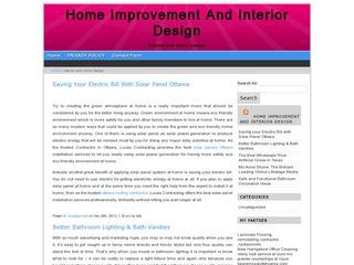 Home improvement and interior design