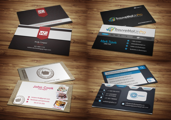 I can design a business card with 2 concepts and free letterhead