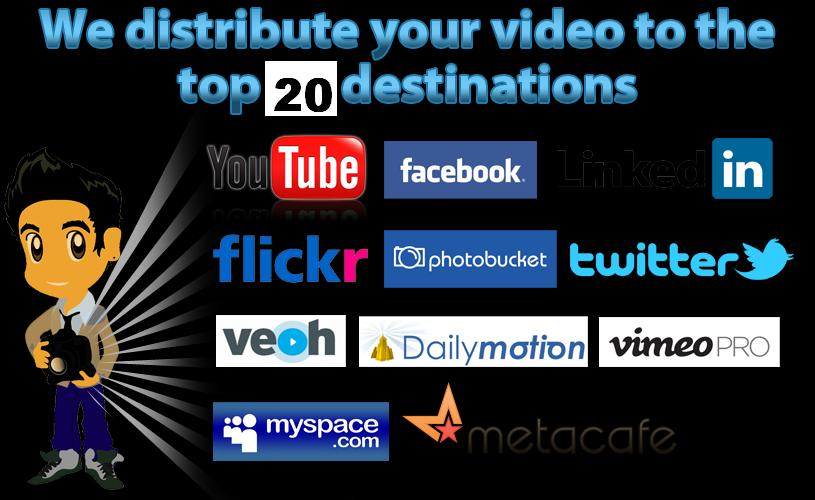 Provide 20 Video submissions for your seo