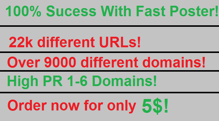 22k URL Blog List, PR 1-5,  100 Sucess Rate Scrapebox Fast Commenter