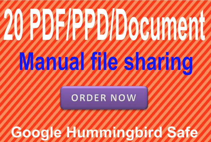 Submit Your PPT/PDF or word document in 20 PR9 Pdf sharing websites