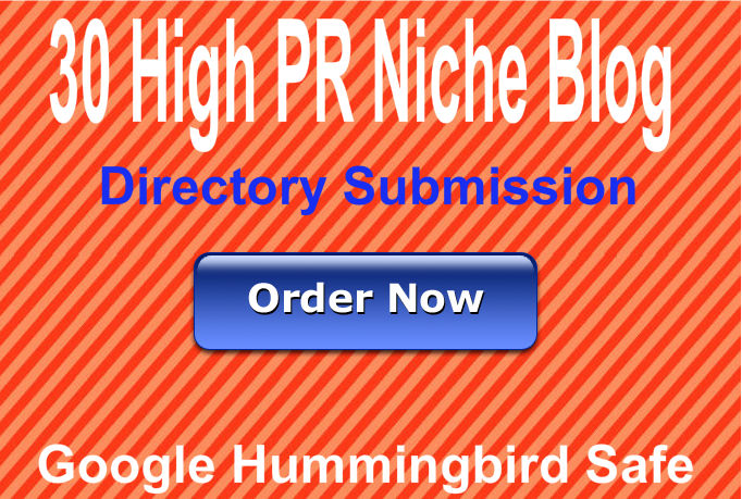Provide 30 Blog Niche directory submission,  best for your SEO