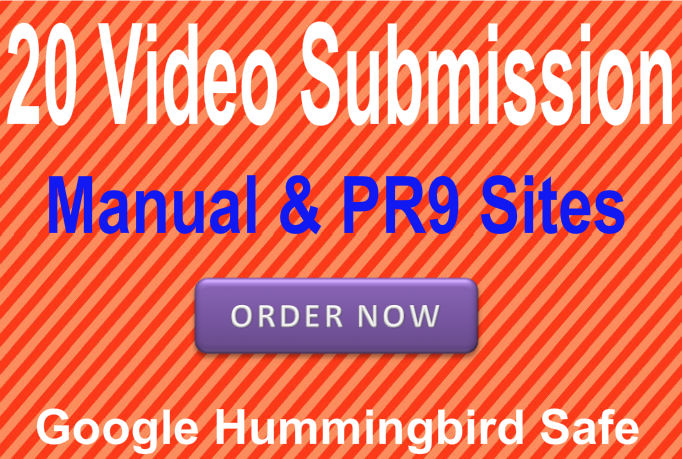Submit Your Video or Promotional Files in 20 PR9 Vide...
