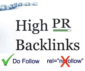 Manually Create High Quality Dofollow backlinks 10PR8+10PR7+10PR6+10PR5 only