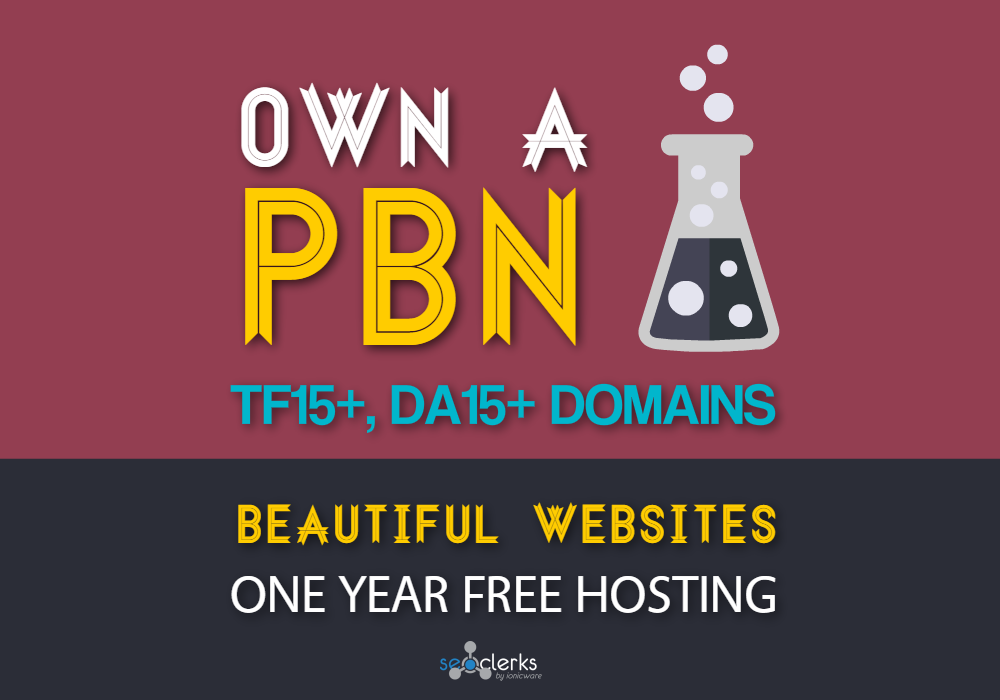 Get a TF15+, DA15+ PBN with 1 Year FREE Hosting