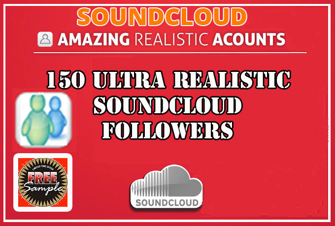 Add 150 of the most realistic PERMENANT SoundCloud followers