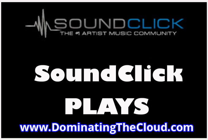 1,500 plays to your SoundClick track, free samples available for $5
